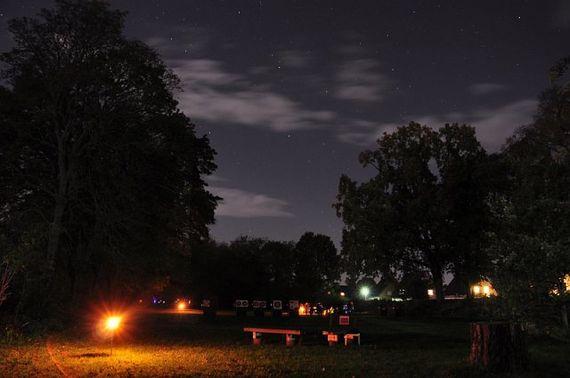 Nachtschießen auf dem Vereinsgelände